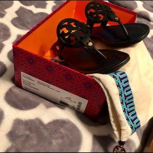 ✨Tory Burch Miller Sandals - BLACK size 6